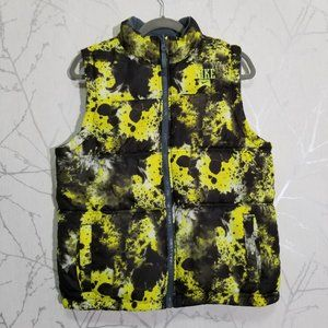 Nike Neon Green Paint Splatter Reversible Vest